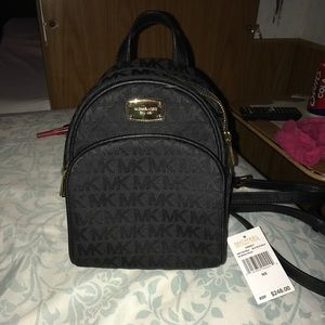 nwt authentic MK abbey mini backpack XS